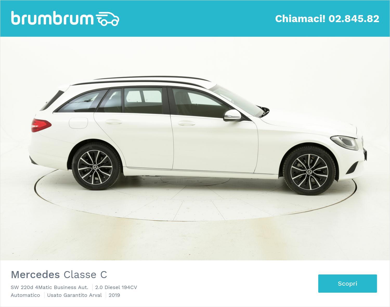 Mercedes Classe C SW 220d 4Matic Business Aut. km 0 diesel bianca | brumbrum