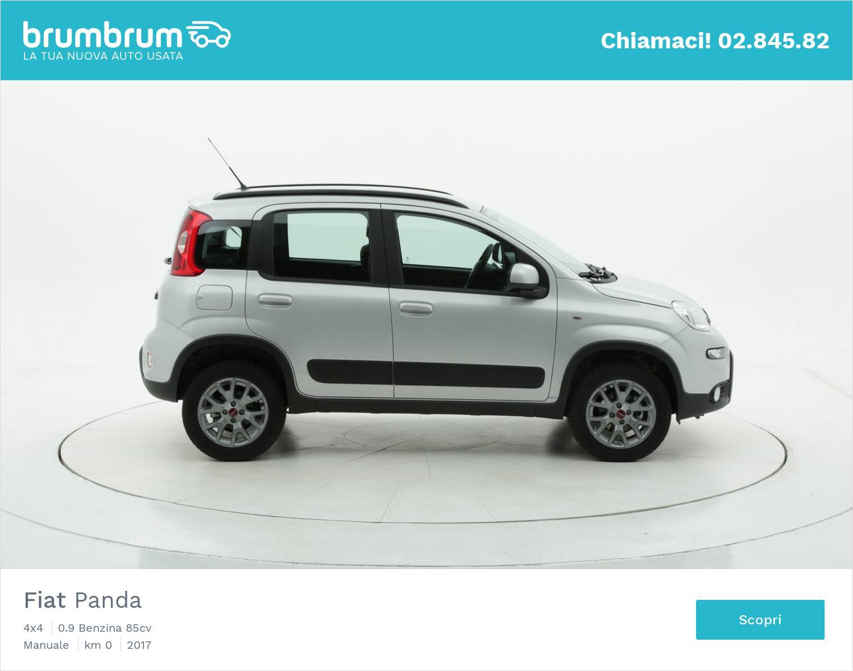 Fiat Panda 4x4 km 0 benzina argento | brumbrum
