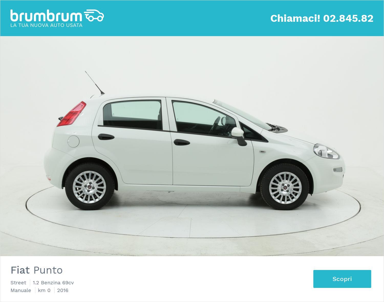 Fiat Punto Street km 0 benzina bianca   brumbrum