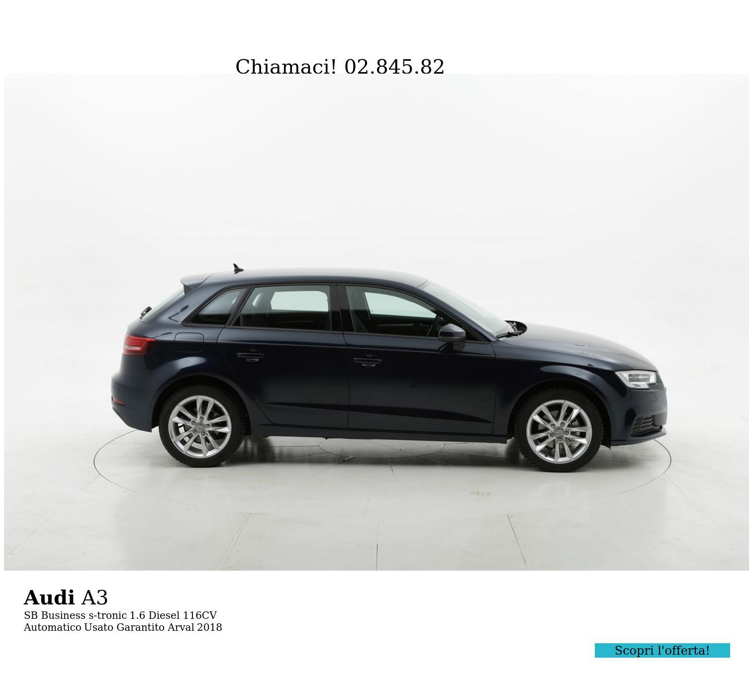 Audi A3 SB Business s-tronic km 0 diesel blu   brumbrum