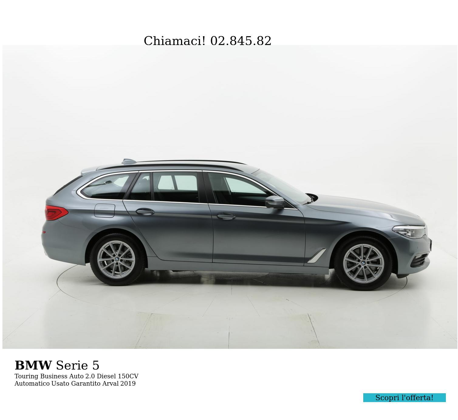 BMW Serie 5 touring business auto km 0 diesel antracite | brumbrum