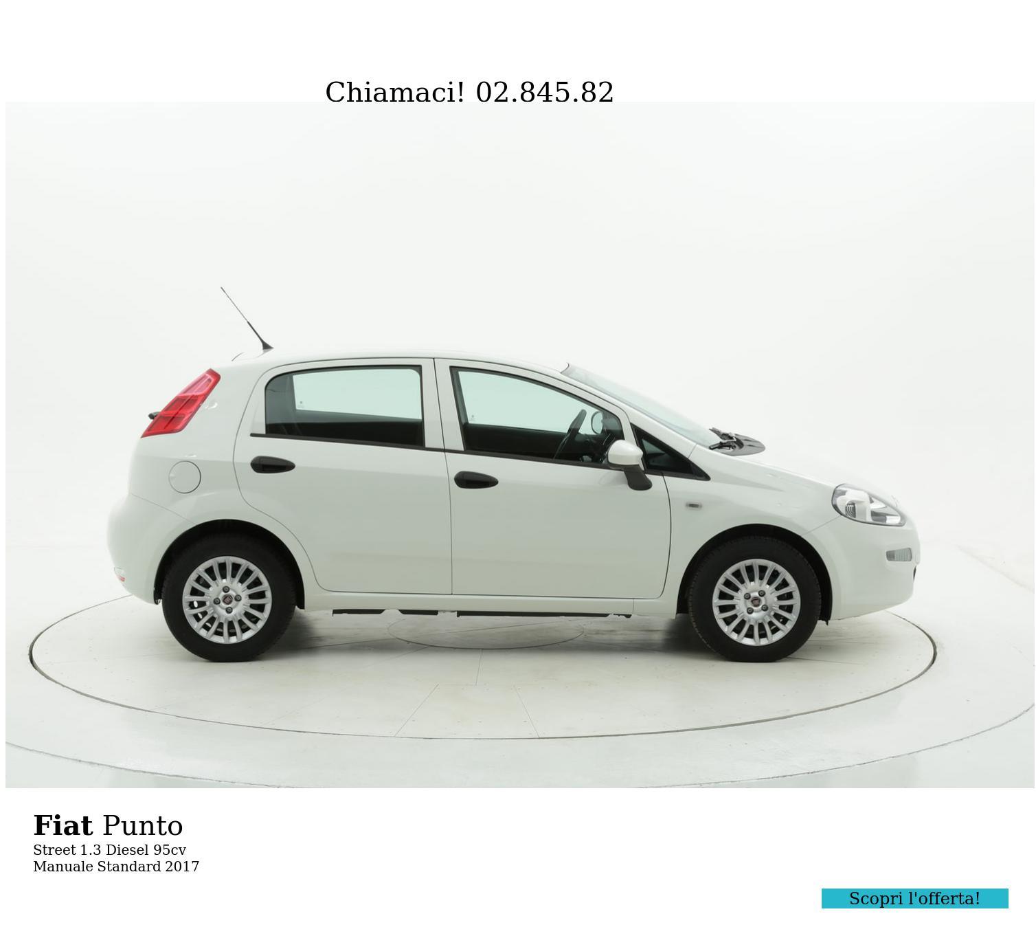 Fiat Punto Street km 0 diesel bianca   brumbrum