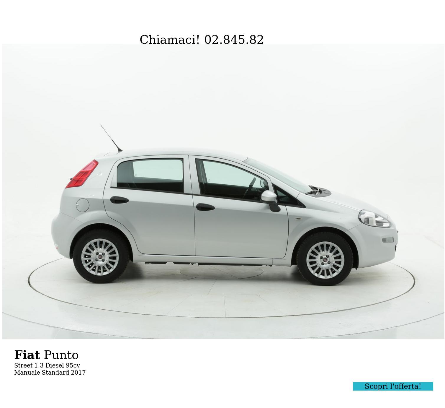 Fiat Punto Street km 0 diesel argento | brumbrum