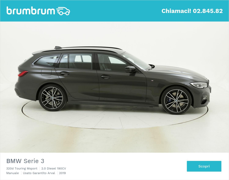 BMW Serie 3 320d Touring Msport km 0 diesel grigia | brumbrum