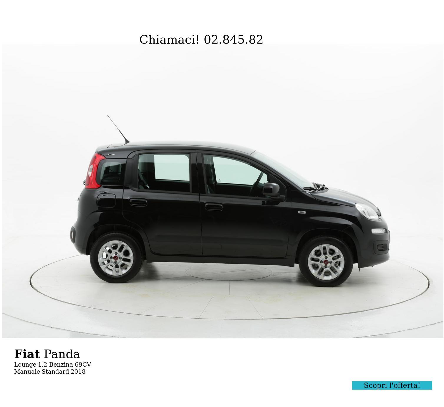 Fiat Panda Lounge km 0 benzina nera | brumbrum