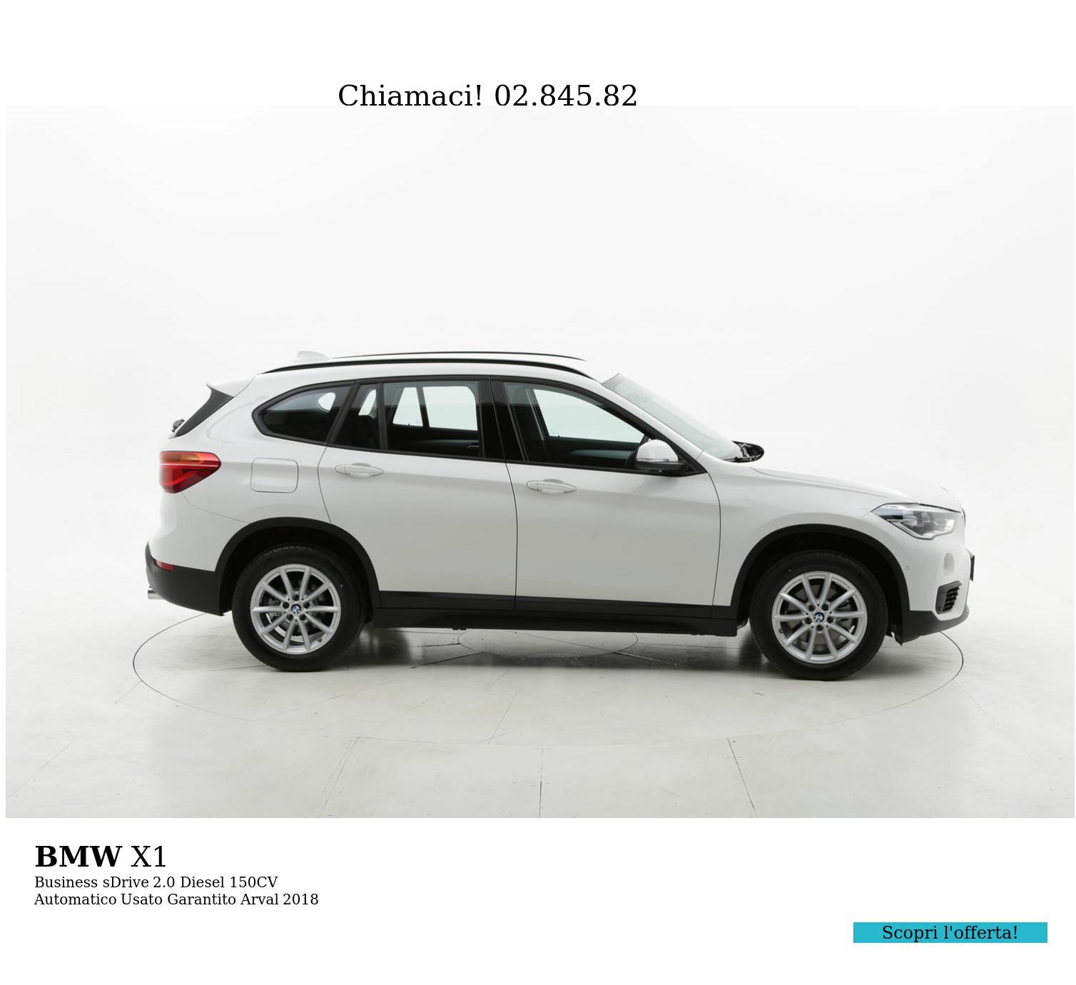 BMW X1 Business sDrive km 0 diesel bianca | brumbrum