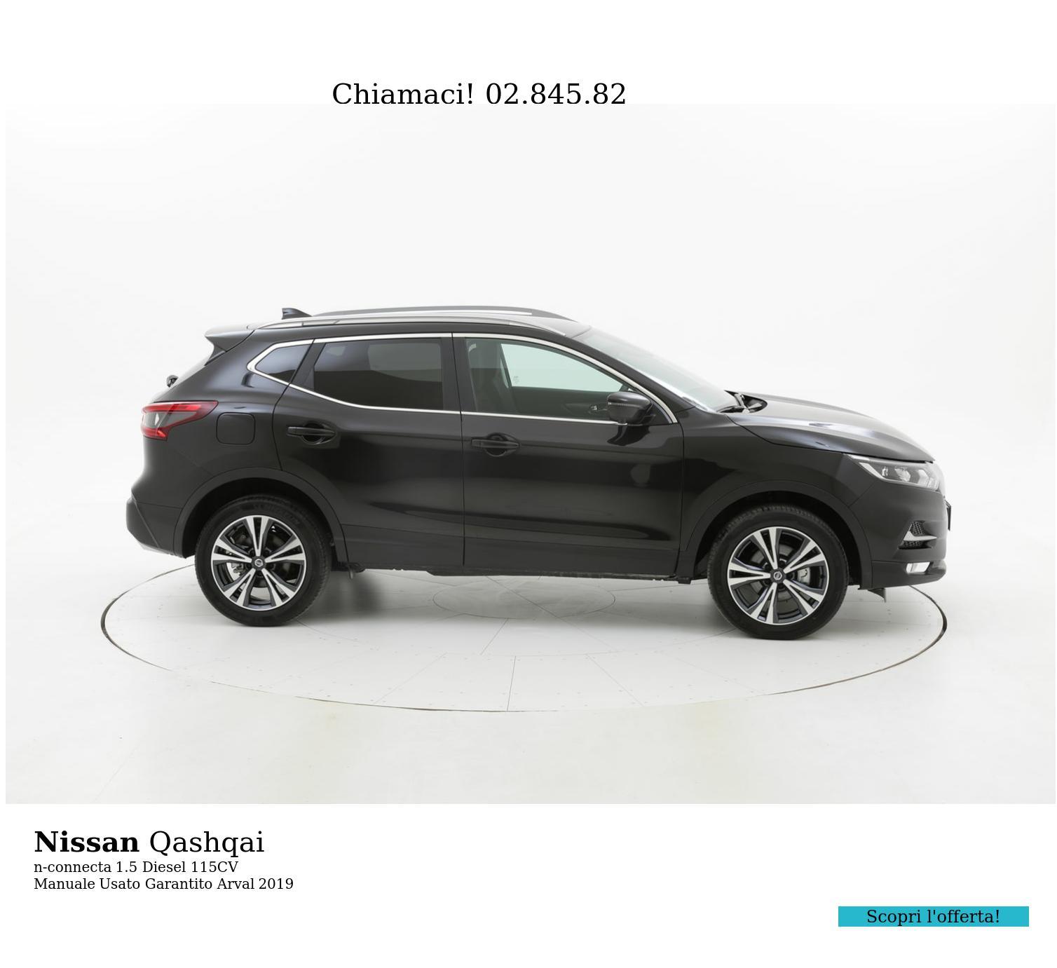 Nissan Qashqai n-connecta km 0 diesel nera | brumbrum