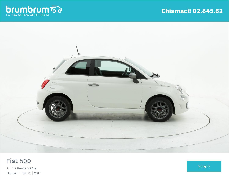 Fiat 500 S km 0 benzina bianca | brumbrum