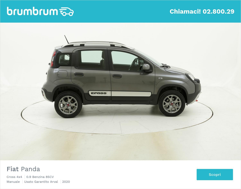 Fiat Panda Cross 4x4 km 0 benzina grigia | brumbrum