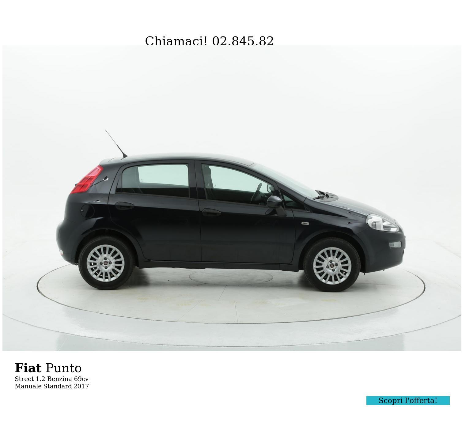 Fiat Punto Street km 0 benzina blu   brumbrum