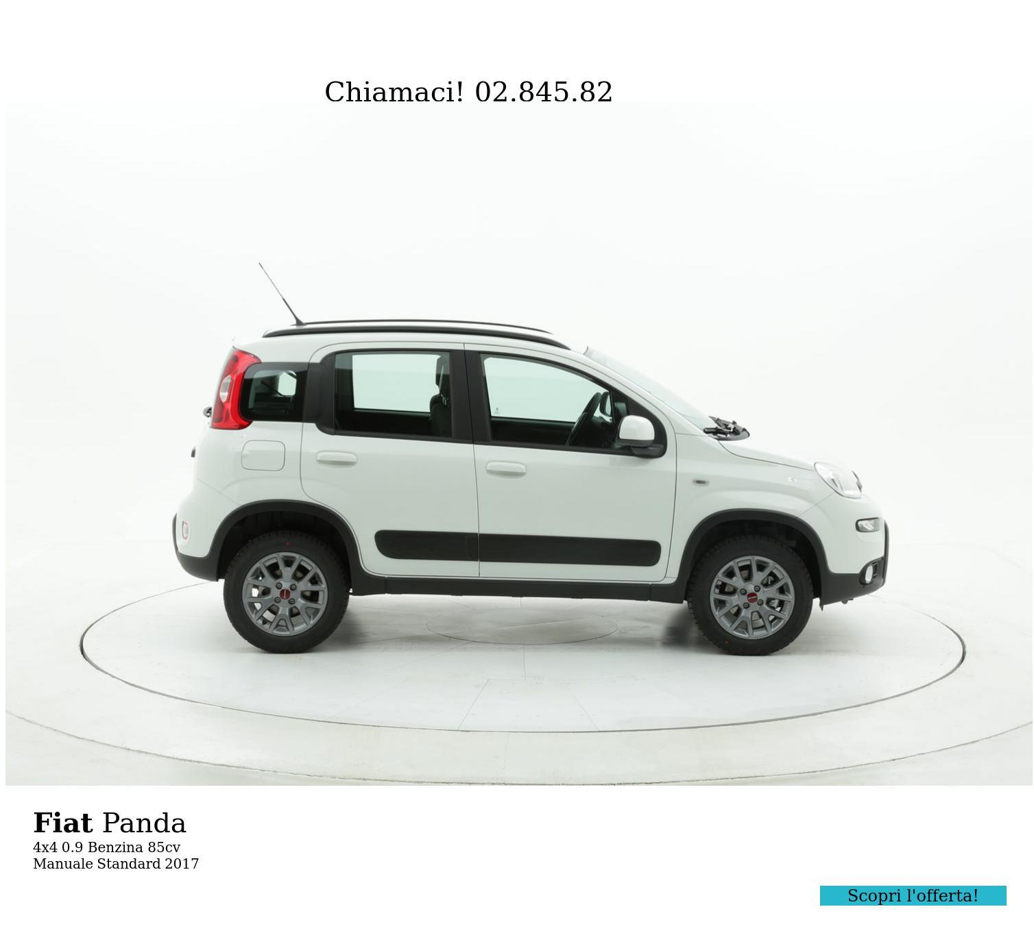 Fiat Panda 4x4 km 0 benzina bianca | brumbrum