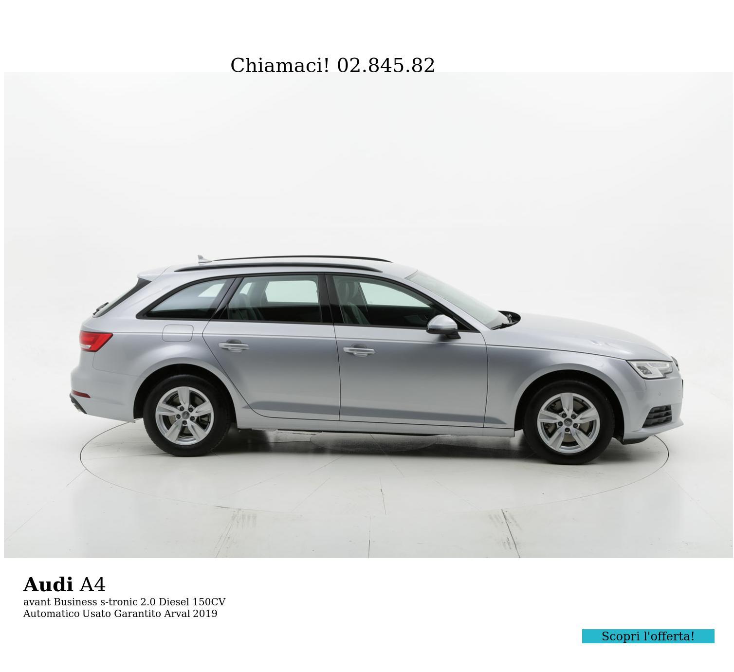 Audi A4 avant Business s-tronic km 0 diesel grigia | brumbrum