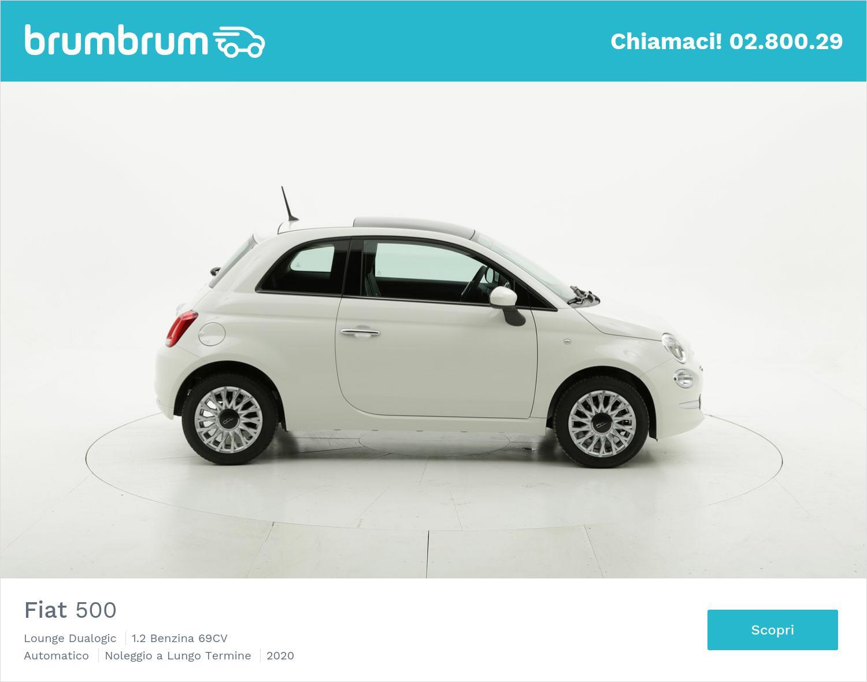 Fiat 500 benzina bianca a noleggio a lungo termine | brumbrum