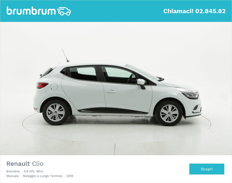 Renault Clio gpl bianca a noleggio a lungo termine | brumbrum