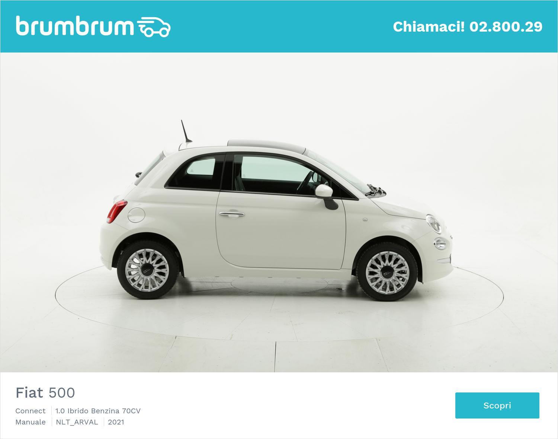 Fiat 500 Connect ibrido benzina bianca a noleggio a lungo termine | brumbrum