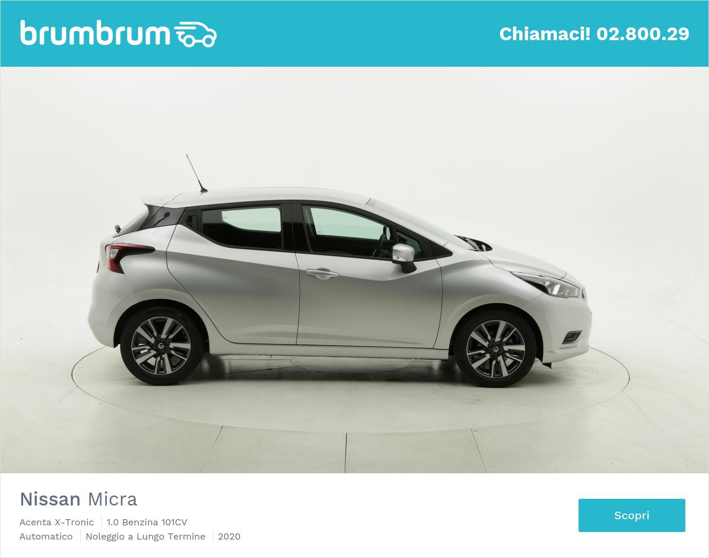 Nissan Micra benzina argento a noleggio a lungo termine | brumbrum