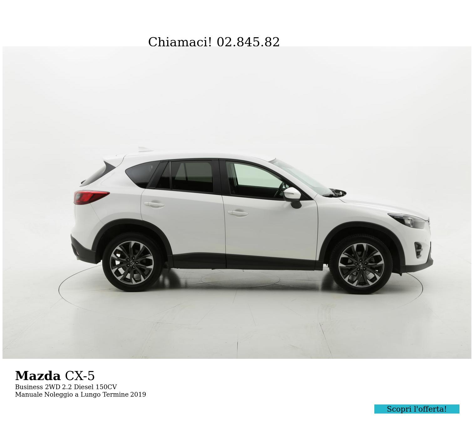 Mazda CX-5 diesel bianca a noleggio a lungo termine | brumbrum