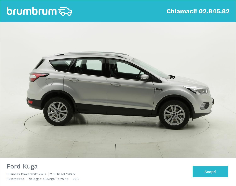 Ford Kuga diesel argento a noleggio a lungo termine | brumbrum