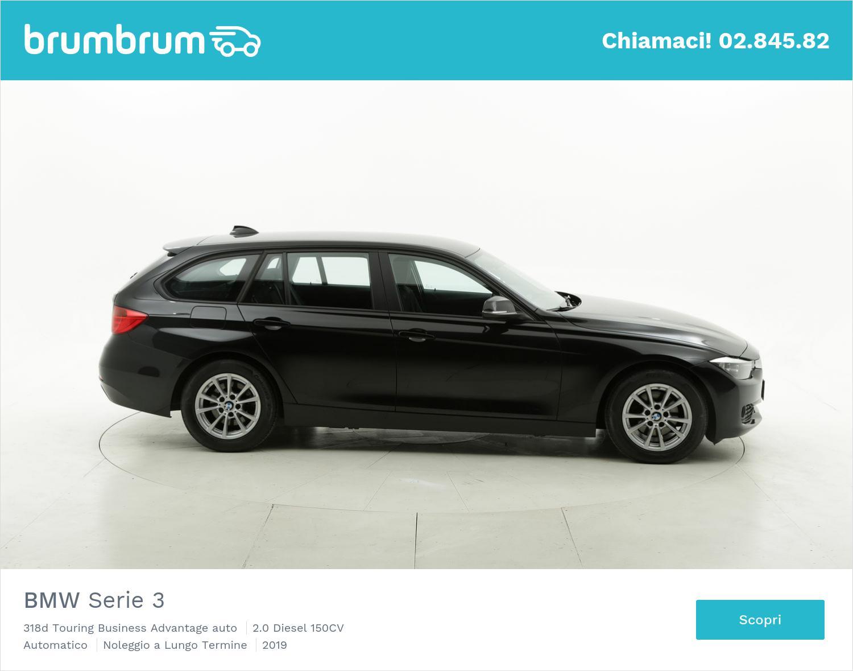 BMW Serie 3 diesel nera a noleggio a lungo termine | brumbrum