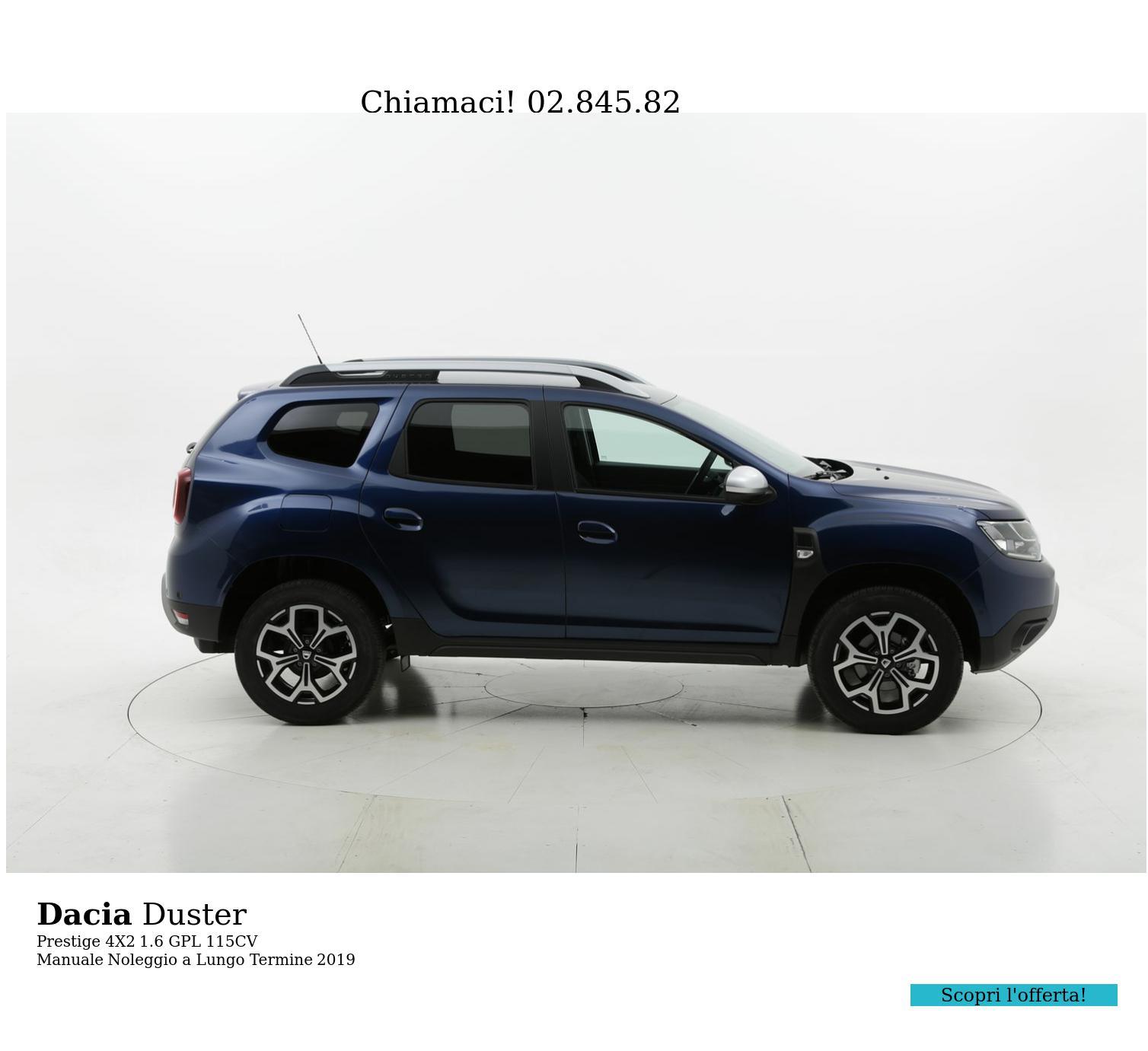 Dacia Duster gpl blu a noleggio a lungo termine | brumbrum