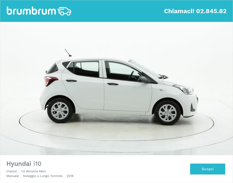 Hyundai I10 benzina bianca a noleggio a lungo termine | brumbrum