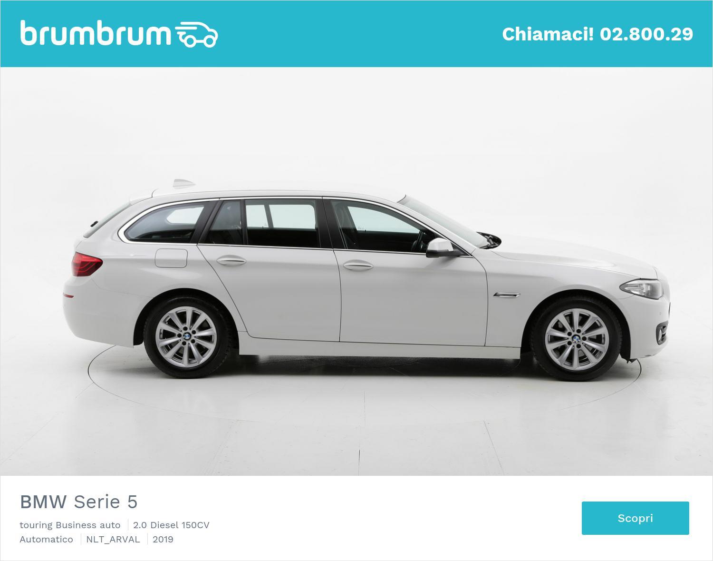 BMW Serie 5 diesel bianca a noleggio a lungo termine | brumbrum