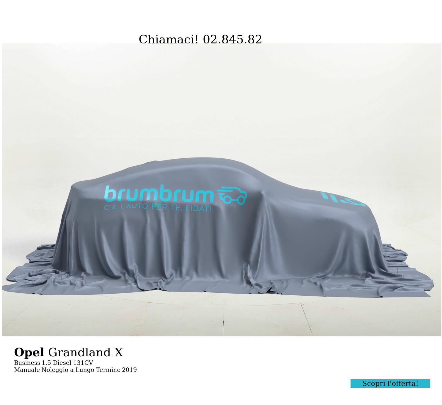 Opel Grandland X diesel grigia a noleggio a lungo termine | brumbrum