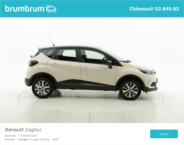 Renault Captur diesel bianca a noleggio a lungo termine | brumbrum