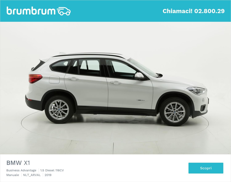 BMW X1 1.5 diesel bianca a noleggio a lungo termine | brumbrum