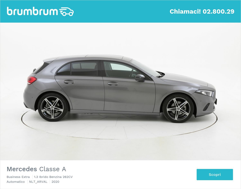 Mercedes Classe A ibrido benzina antracite a noleggio a lungo termine | brumbrum