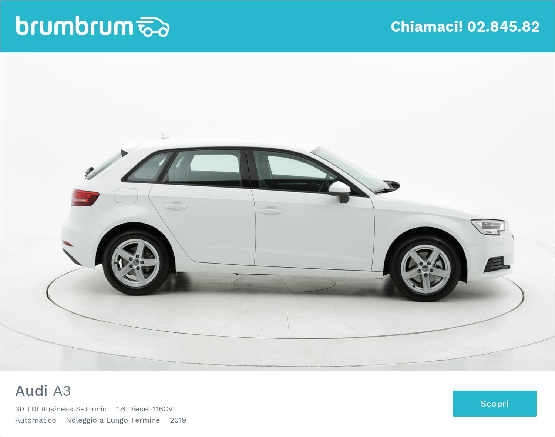 Audi A3 diesel bianca a noleggio a lungo termine | brumbrum