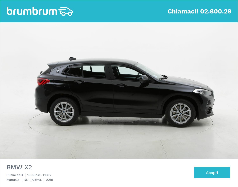 BMW X2 diesel nera a noleggio a lungo termine | brumbrum