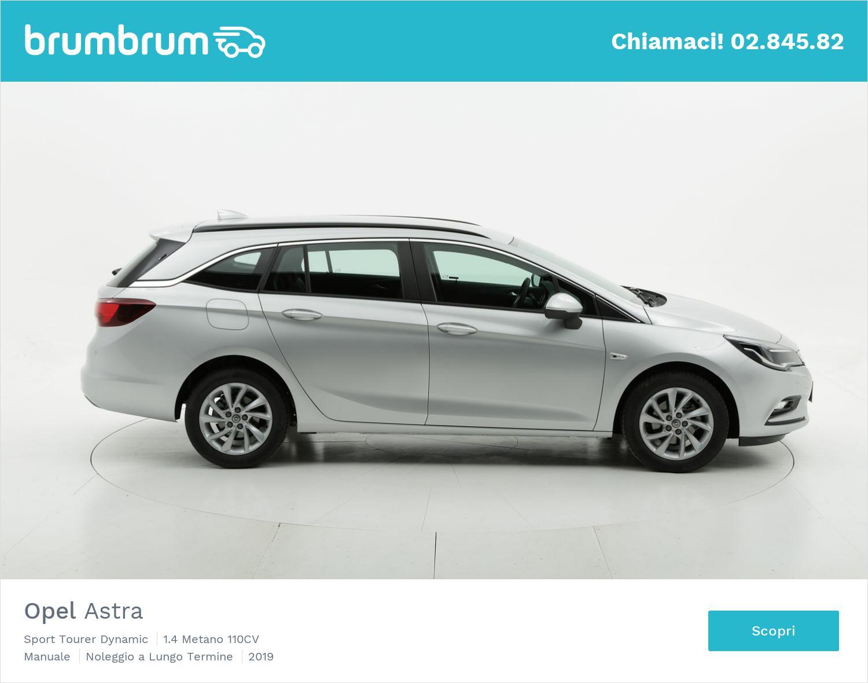 Opel Astra metano argento a noleggio a lungo termine | brumbrum