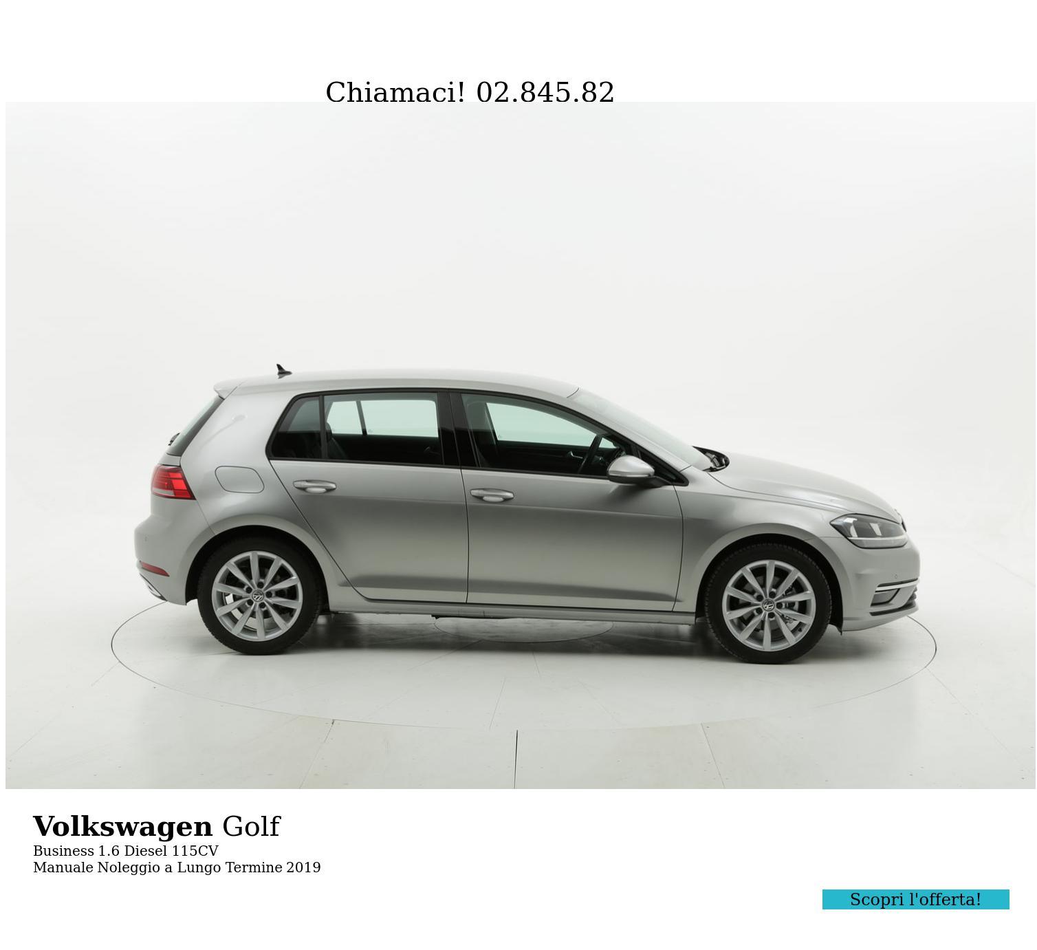 Volkswagen Golf diesel grigia a noleggio a lungo termine | brumbrum