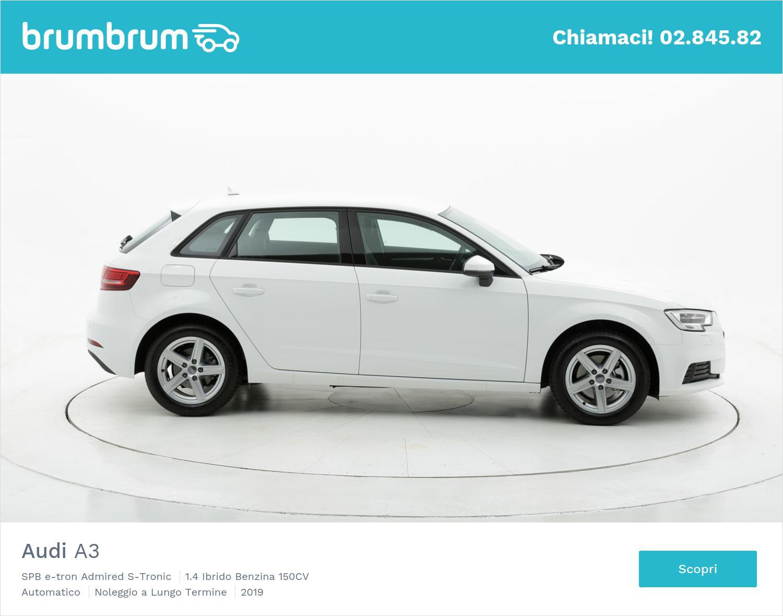 Audi A3 ibrido benzina bianca a noleggio a lungo termine | brumbrum