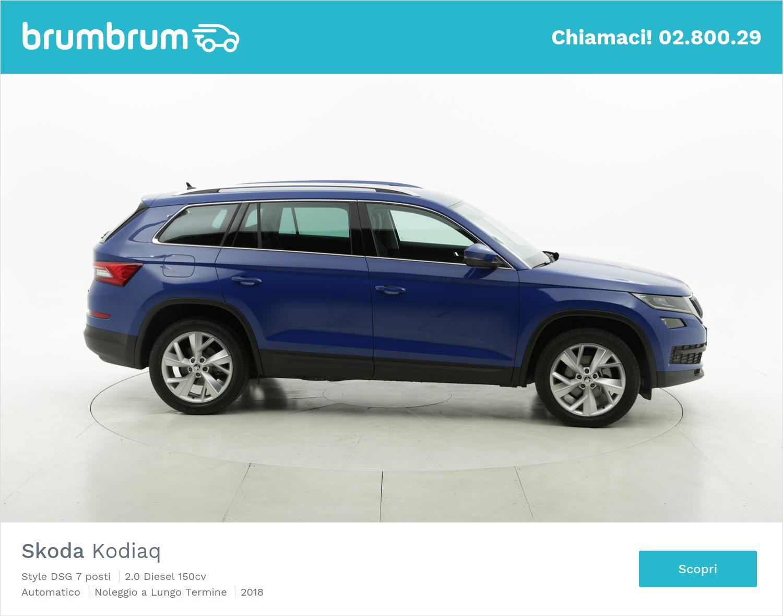 Skoda Kodiaq diesel blu a noleggio a lungo termine | brumbrum