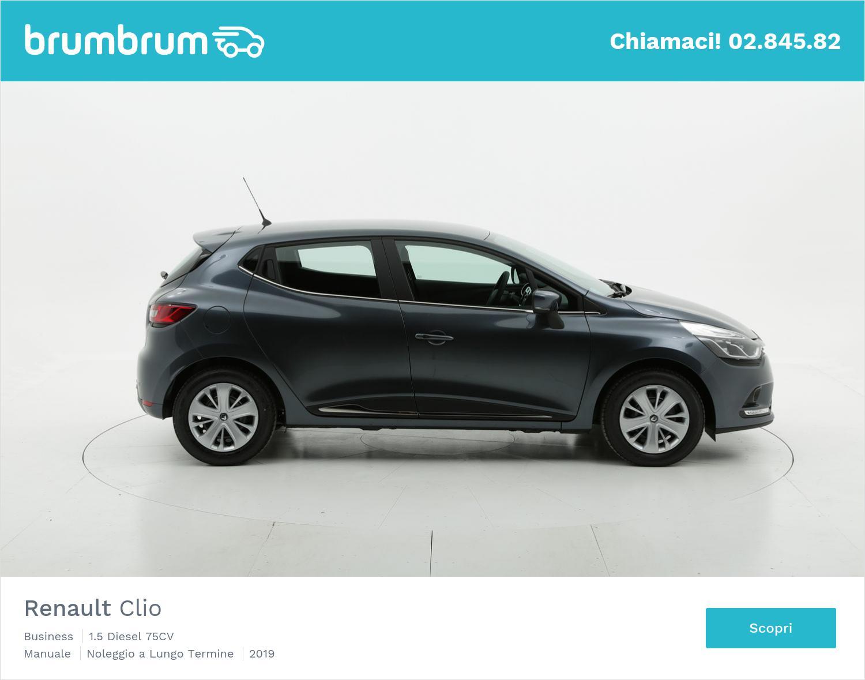 Renault Clio diesel antracite a noleggio a lungo termine | brumbrum