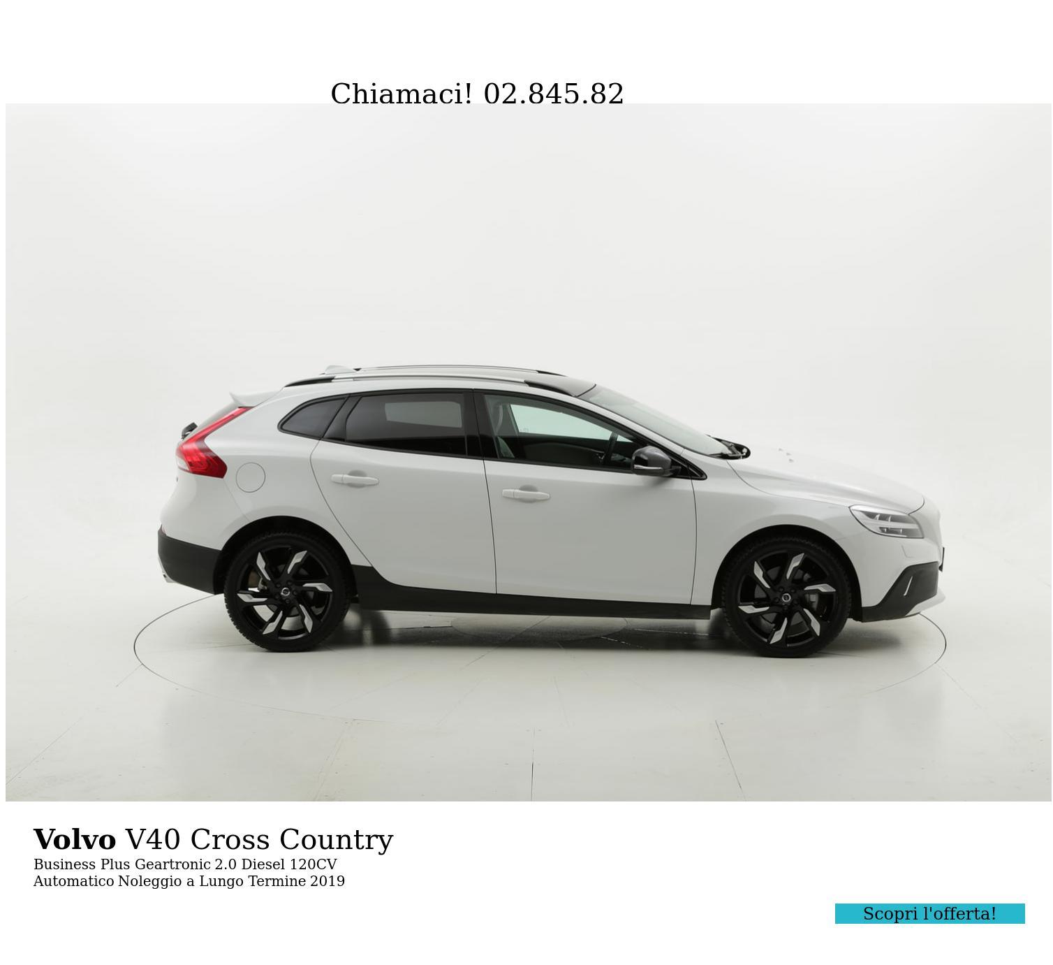 Volvo V40 Cross Country diesel bianca a noleggio a lungo termine | brumbrum