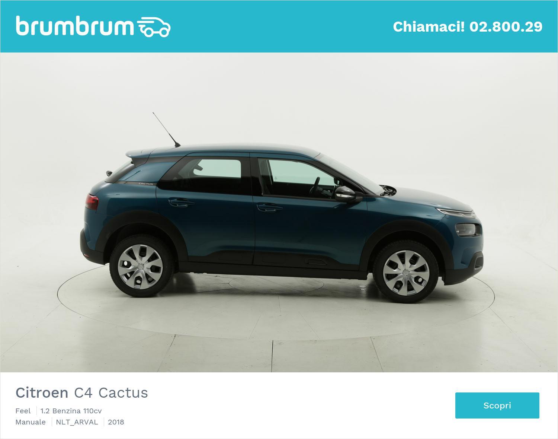 Citroen C4 Cactus benzina blu a noleggio a lungo termine | brumbrum