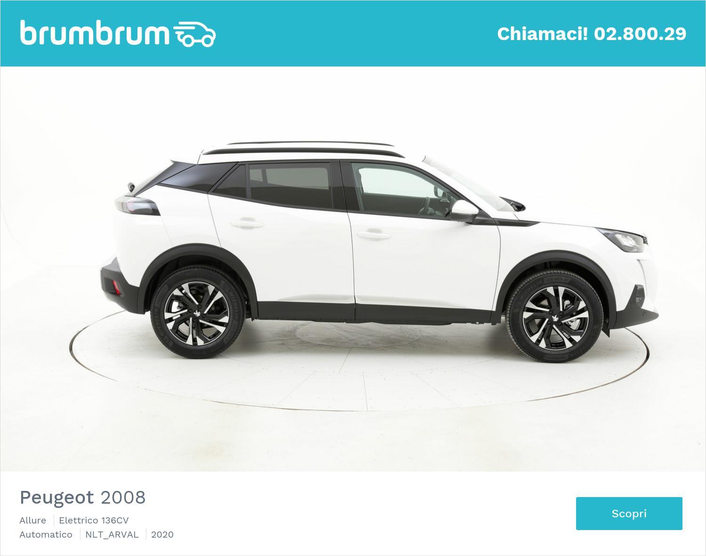 Peugeot 2008 elettrico bianca a noleggio a lungo termine | brumbrum