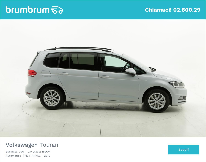 Volkswagen Touran diesel argento a noleggio a lungo termine | brumbrum