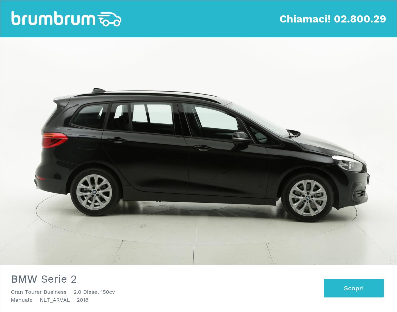 BMW Serie 2 diesel nera a noleggio a lungo termine | brumbrum