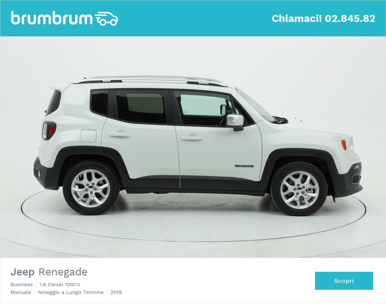 Jeep Renegade diesel bianca a noleggio a lungo termine | brumbrum