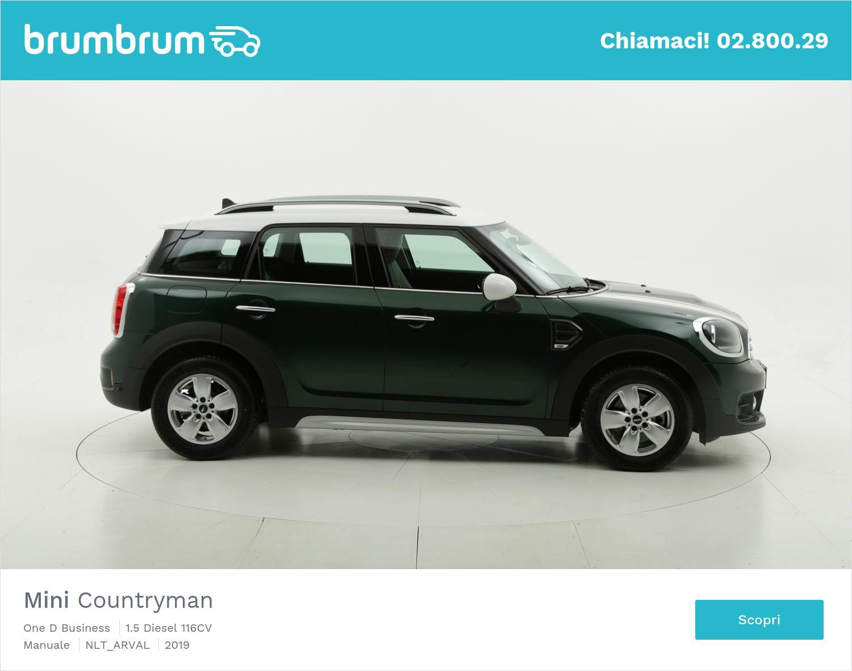 Mini Countryman diesel verde scura a noleggio a lungo termine | brumbrum