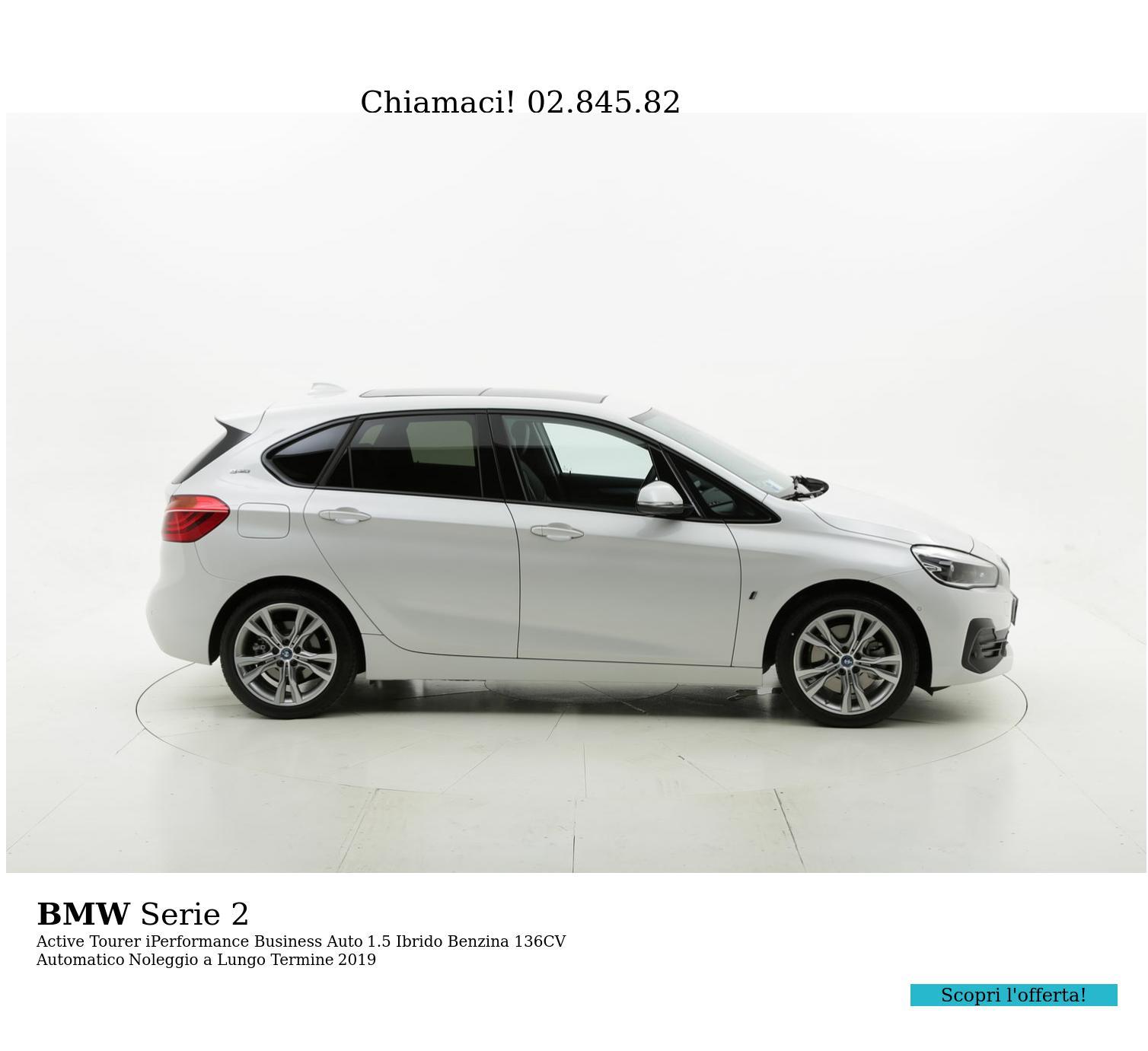 BMW Serie 2 ibrido benzina bianca a noleggio a lungo termine | brumbrum