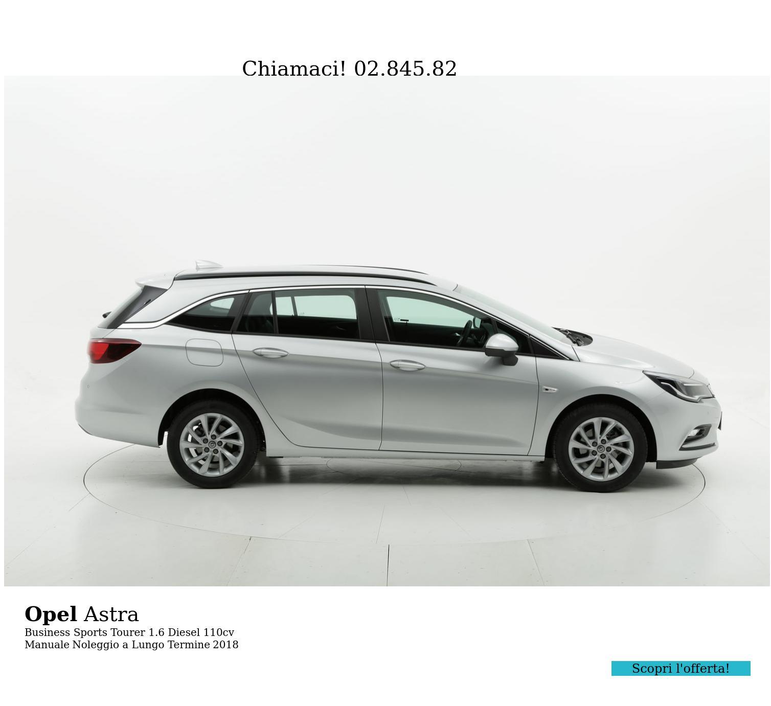 Opel Astra diesel argento a noleggio a lungo termine | brumbrum