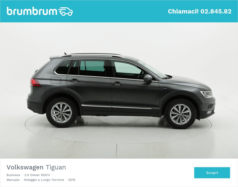 Volkswagen Tiguan diesel grigia a noleggio a lungo termine | brumbrum