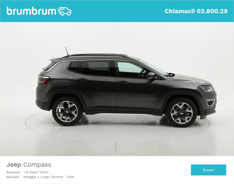 Jeep Compass diesel antracite a noleggio a lungo termine | brumbrum