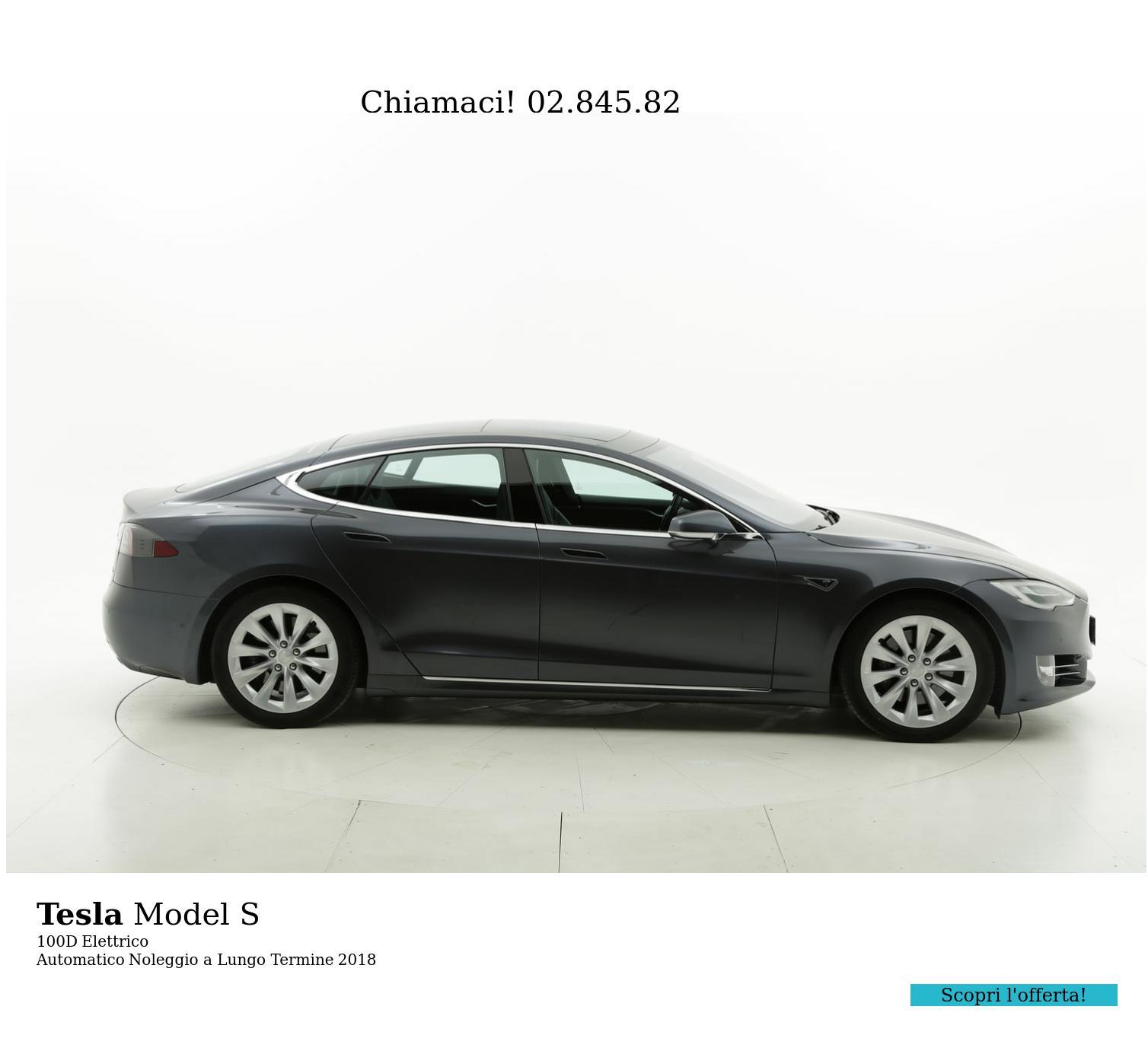 Tesla Model S elettrico grigia a noleggio a lungo termine | brumbrum