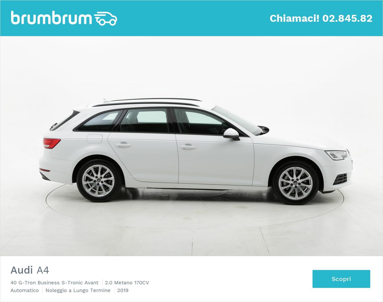 Audi A4 metano bianca a noleggio a lungo termine | brumbrum